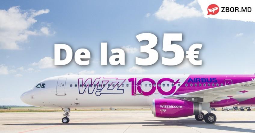 Wizz Air va opera 4 rute  noi de pe aeroportul din Chișinău!