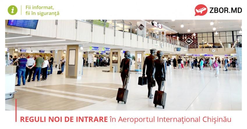 Новые правила въезда в международный аэропорт Кишинева.