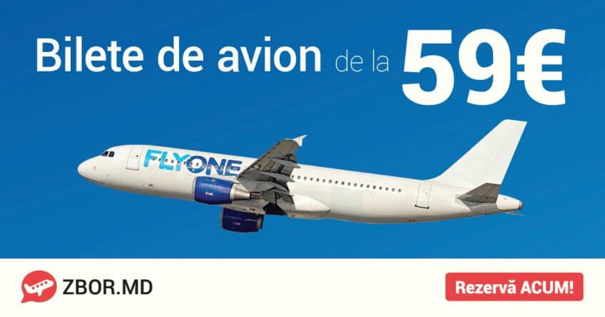 Zbor.md și Fly One dau startul Biletelor de Avion de Iarnă!