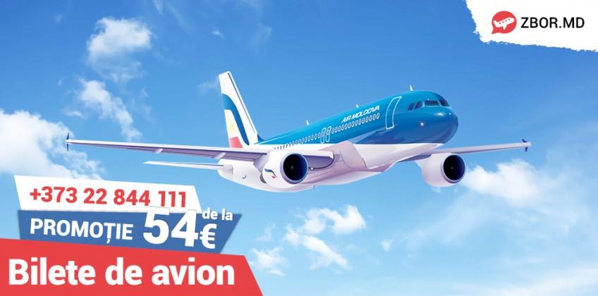 Bilete de Avion Air Moldova de la 54 Euro!