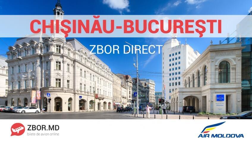 Cursa aeriană Chișinău-București va fi relansată de Air-Moldova!