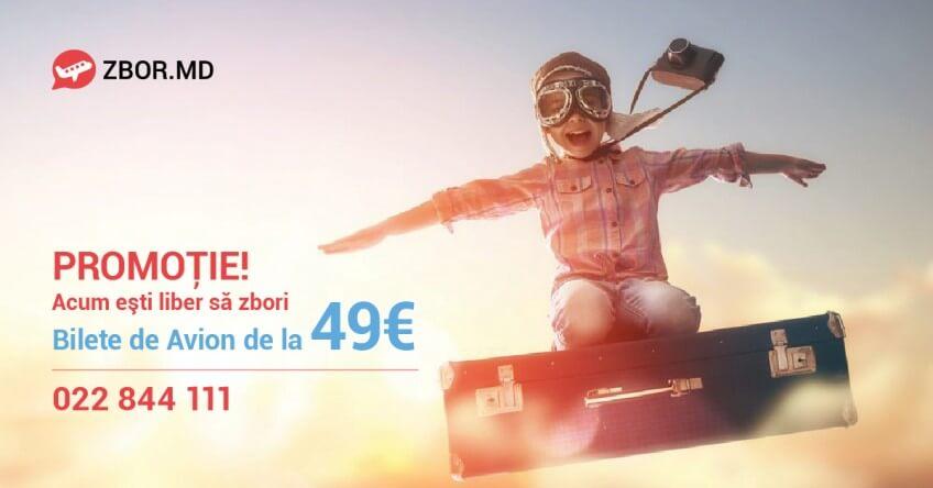 Bilete de Avion de la 49 Euro! SUNĂ ACUM - 022 844 111!