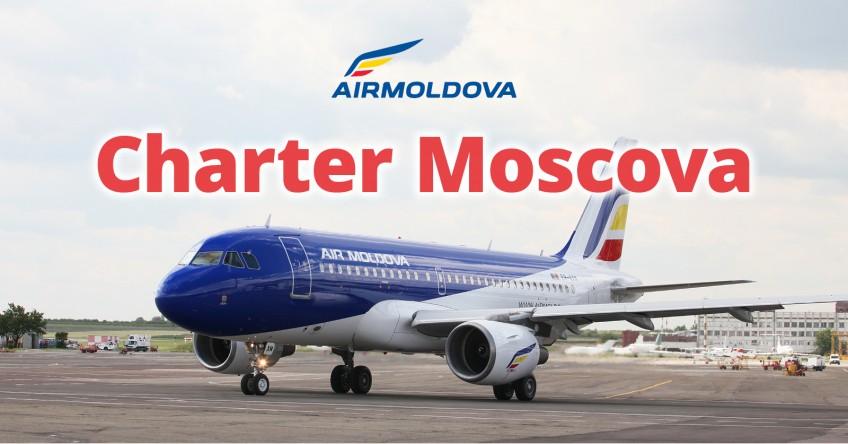 Air Moldova lansează  zborurile charter spre Moscova/Domodedovo!