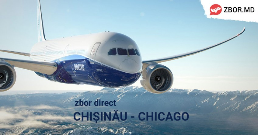 NOU! Zbor direct  din Chișinău la Chicago!