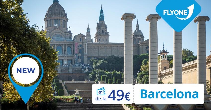 FLYONE lansează o destinație nouă – Barcelona de la 49 EUR!