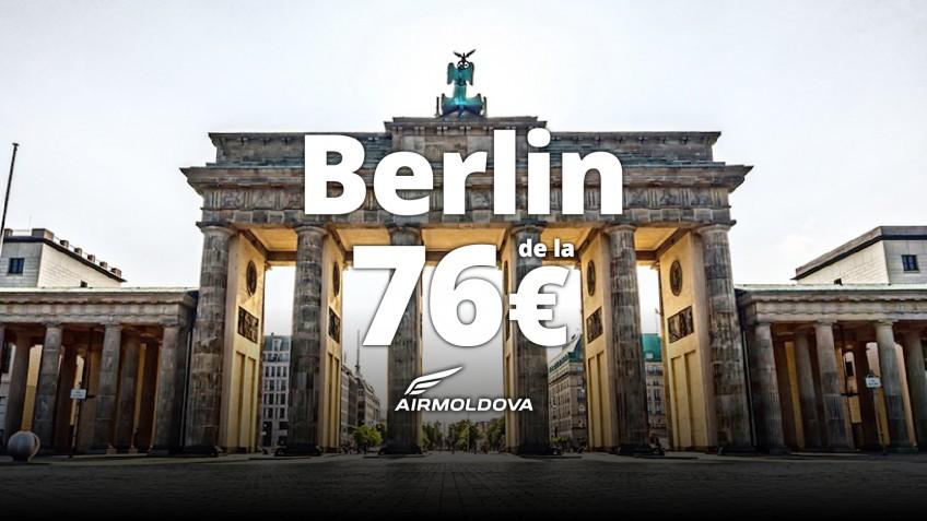 NOU! Zbor direct Chișinău-Berlin din 31 Martie!