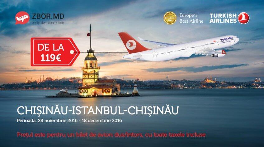De sărbători zbori mai ieftin cu Zbor.md! Chișinău - Istanbul - Chișinau la doar 119 Euro!