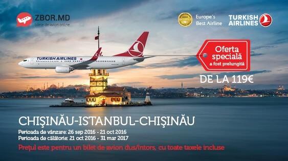 Chișinău - Istanbul - Chișinău la doar 119 Eur!