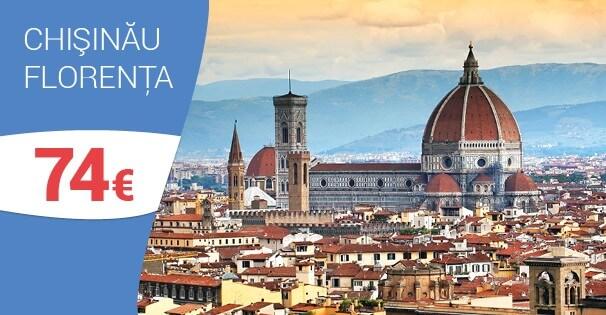Din 14 iunie, zbor direct, Chișinău - Florența!