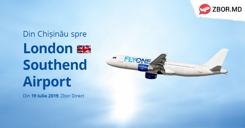Noul zbor direct Chișinău - Londra de la Fly One!