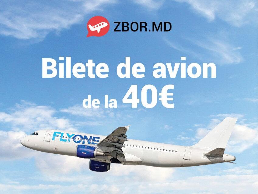 O lună de reduceri de la Zbor.md! Bilete de avion de la 40 Eur*!