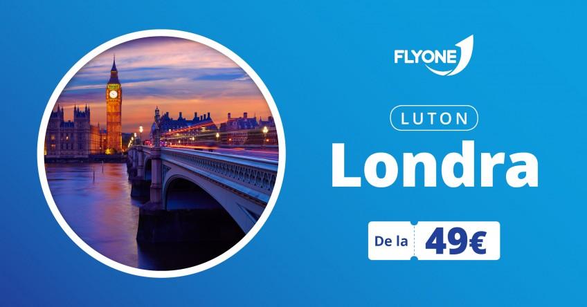 Chișinău - Londra(Luton) direct cu FLYONE!