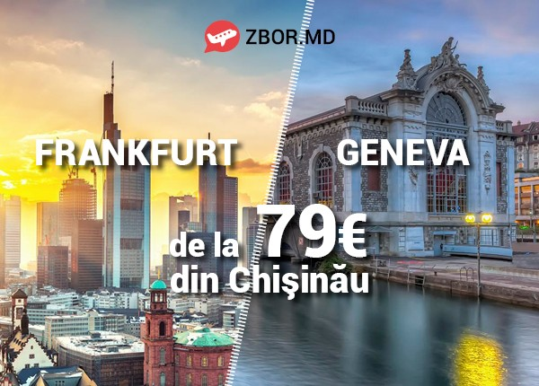 Cu Zbor.md și Air Moldova zbori mai ieftin la Frankfurt și Geneva!