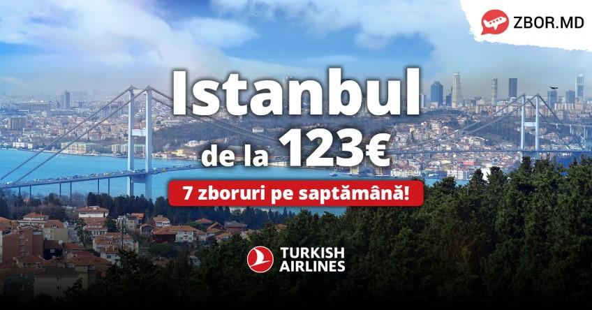 Turkish Airlines mărește frecvența zborurilor din Chișinău!