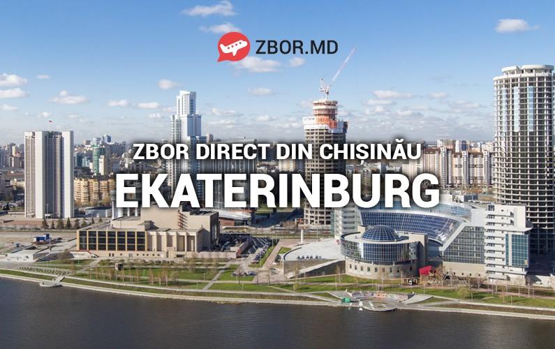 Zbor direct Chișinău - Ekaterniburg din 28 aprilie 2018!