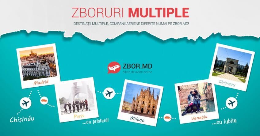În premieră! Legături multiple pe Zbor.md!