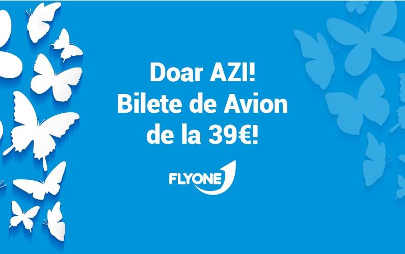 Doar azi, 1 Martie, Bilete de Avion de la 39 Eur!
