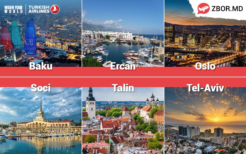 Vara începe cu reduceri de la Zbor.md și Turkish Airlines!
