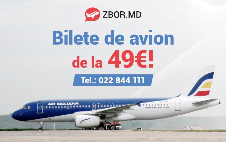 3 zile de Prețuri Mici la Biletele de Avion   de la Zbor.md și Air Moldova!