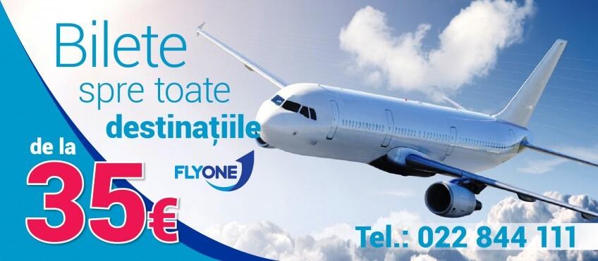 Super Ofertă! Zboruri de la 35 Eur împreună cu Zbor.md și Fly One!