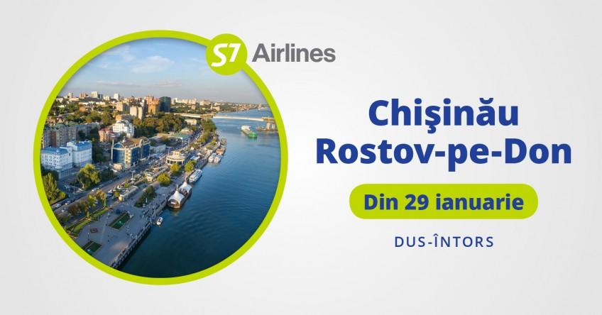 Zbor NOU direct din Chișinău spre Rostov-pe-Don!