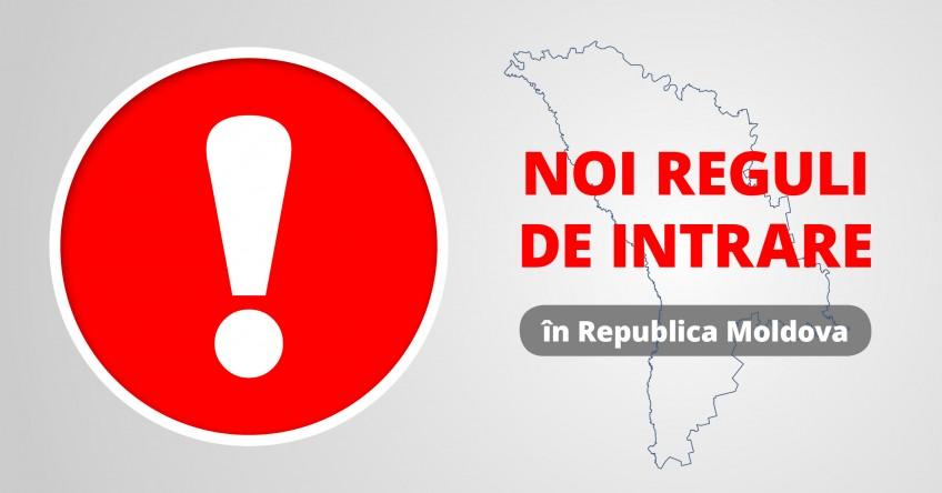 Noi reguli de intrare in Republica Moldova din 5 Martie 2021
