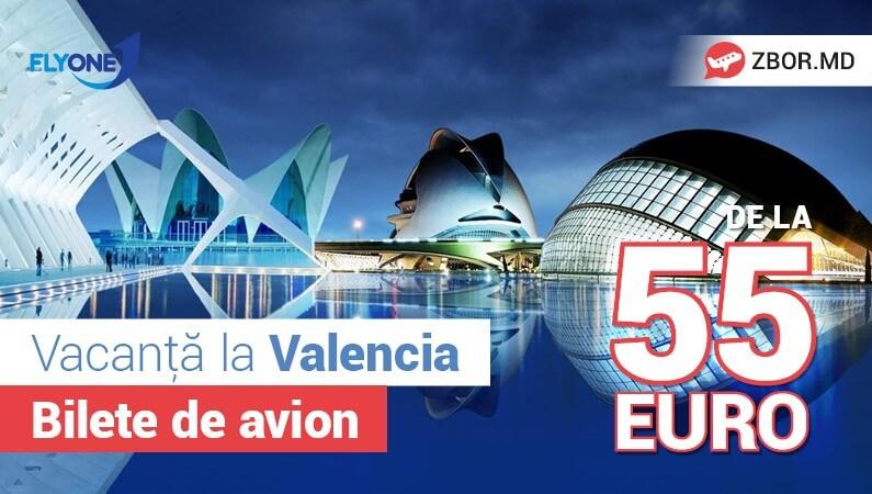 Ofertă generoasă pentru noua cursă Chișinău - Valencia!