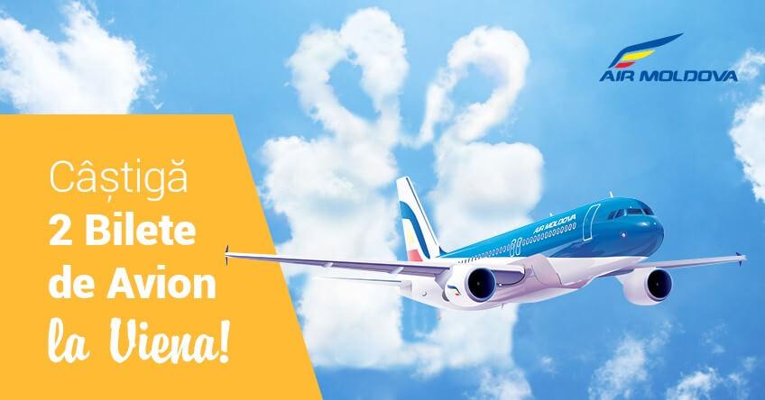 Cu Zbor.md şi Air Moldova, câştigi 2 bilete de avion spre Viena!