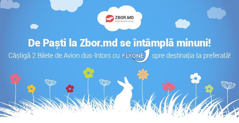 De Paști la Zbor.md se întâmplă minuni! Câștigă 2 Bilete de Avion, dus-întors, cu Fly One spre destinația preferată!