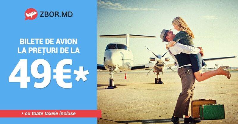 BIlete de Avion Promoționale de la 49 Eur*! Fii pregătit din timp!