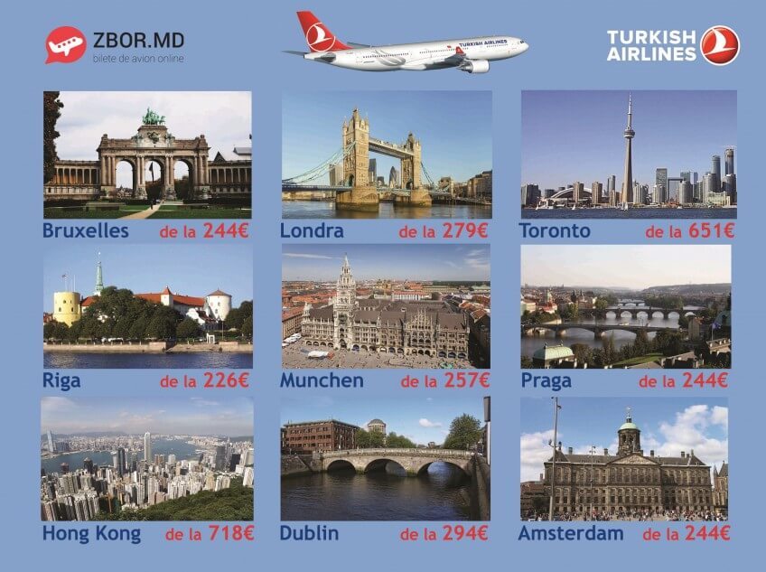 Zbor.md si Turkish Airlines anunță reduceri!