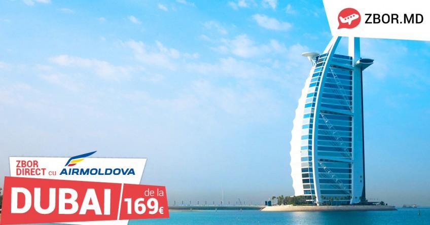 Reluarea zborurilor spre Dubai de către compania Air Moldova!