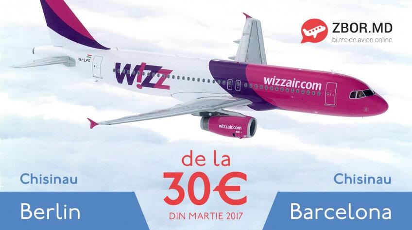 Curse noi spre Berlin și Barcelona! Prețul biletelor de avion încep de la 30 eur!
